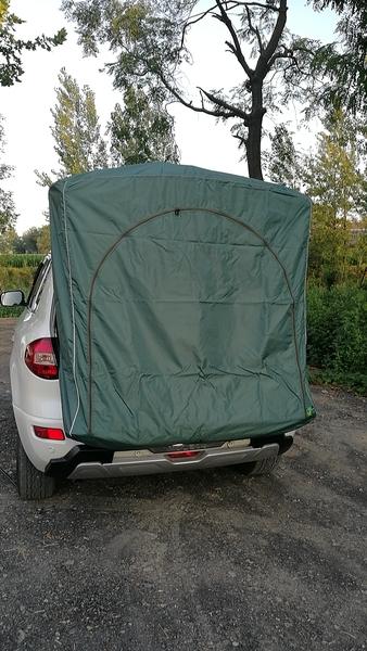 이효리 제주 속초 감성 카박 도킹 차량 후방 연결 차박하기좋은차 차박 텐트, 짙은 녹색