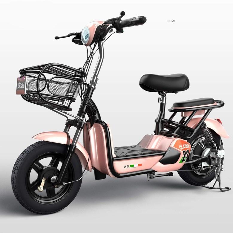 Yadi Xinri 전기 자전거 전동 바이크 48v, 전체 차량에는 60km 로즈 골드 용 순정 Tianneng / Chaowei 배터리가 장착되어 있습니다.
