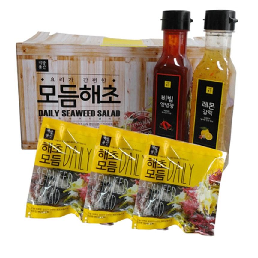 기장 모듬해초 건 해초샐러드세트, 1box, 모듬해초10봉+비빔소스10봉
