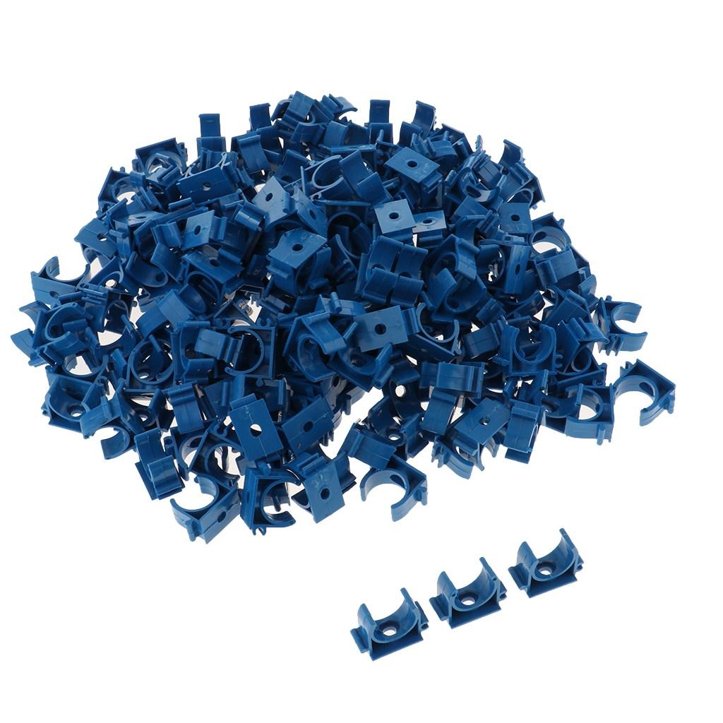 JC pvc 파이프 배관 피팅 u 타입 클램프 고정 배관 액세서리 블루 g, 1개