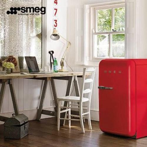 와이프 20대 여자 생일선물 가정용술 미니와인 냉장고 SMEG/스멕FAB5 빈티지 스몰, 01 붉은색