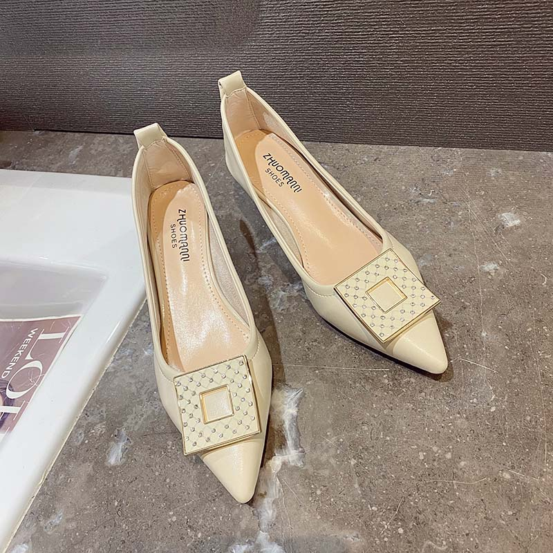 여성 봄 가을 프렌치 스틸레토 단화 클래식 로퍼 신발 슈즈
