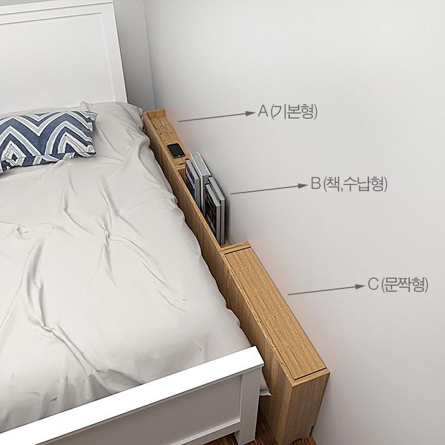 아이린 침대틈새 사이드테이블 틈새수납, 틈새수납-A[기본형]-애쉬