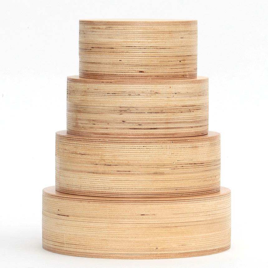 오토몬 베이킹 아이싱 연습용 나무 모형케이크 4가지 사이즈