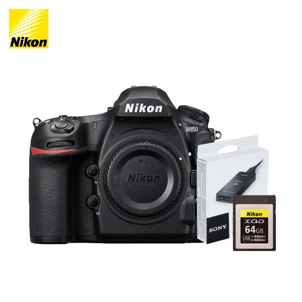 니콘 D850 + XQD 64G 메모리 MRW-E90 리더기, 니콘 정품 D850 패키지