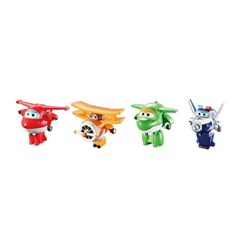 Super Wings US710610 TransformABots Jett Paul Mira Grand Albert Toy Figures 2