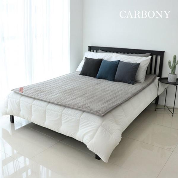 Carbony 탄소전기매트 극세사 그레이칼라(1인용 2인용), 그레이 2인용(150X200cm)
