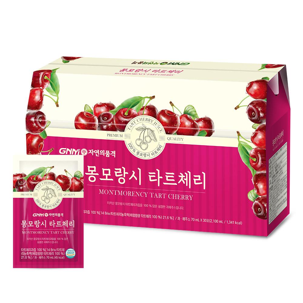 GNM자연의품격 몽모랑시 타트체리 주스 즙, 30포, 70ml