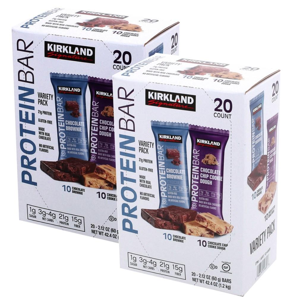 커클랜드 시그니춰 프로틴 바 60g x 40입 단백질 바 60g x 20입 2박스, 20개입 x 2box