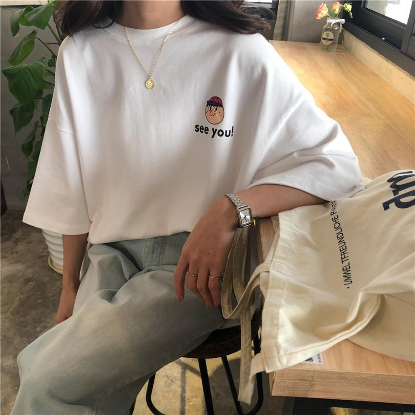 리더스타 여성티셔츠 루즈핏 자체제작 2개 세트 반팔 티셔츠