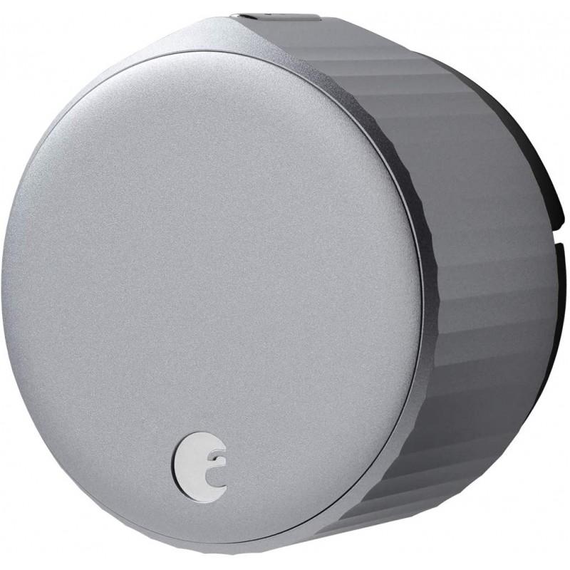 8 월 Wi-Fi Smart Lock-Alexa Google Assistant HomeKit SmartThings 및 AirBnb 호환-데드 볼트 업그레이드-실버, 단일옵션, 단일옵션