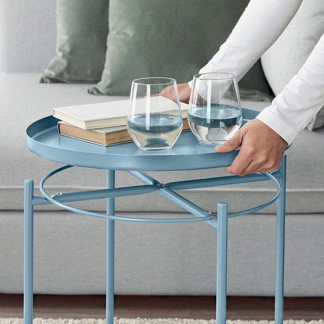IKEA 이케아 GLADOM 글라돔 트레이 테이블, 블루 904.119.93