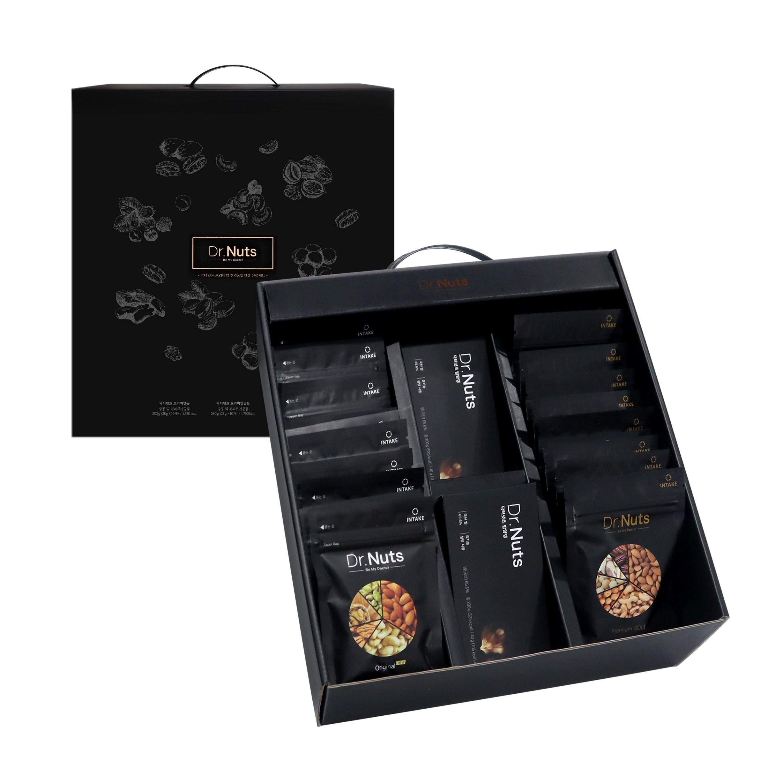 닥터넛츠 프리미엄 하루견과&밤양갱 선물세트, 2박스(견과40팩+양갱20개)