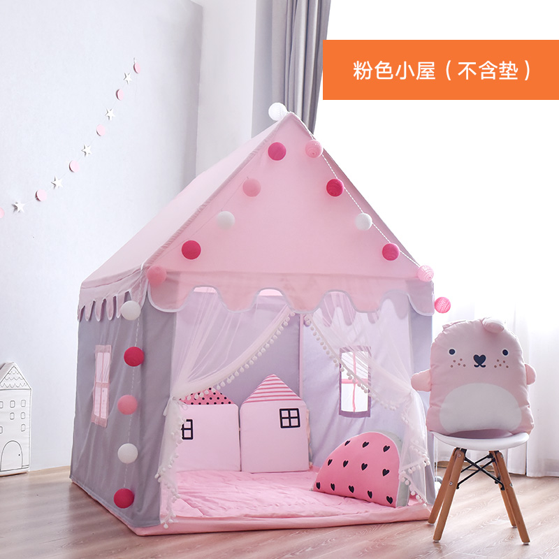 공주 아기 아동 미니 집 하우스 실내 놀이 궁전 텐트, 핑크
