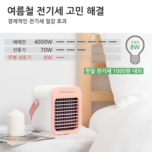 캠핑용 미니 냉풍기 탁상용 미니 냉풍기 강하지만 조용한 매력, 그레이 (POP 5761127032)