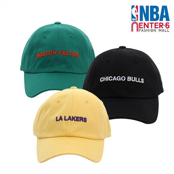 NBA 엔비에이 팀별 워딩 볼륨자수 볼캡 모자 N195AP272P