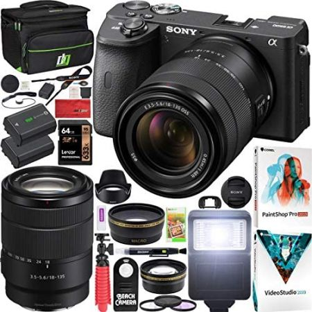 Sony a6600 Mirrorless Camera 4K APS-C ILCE-6600MB with 18-135mm F3.5-5.6 OSS Lens Kit and Deco Gear, One Color_One Size, 상세 설명 참조0, 상세 설명 참조0