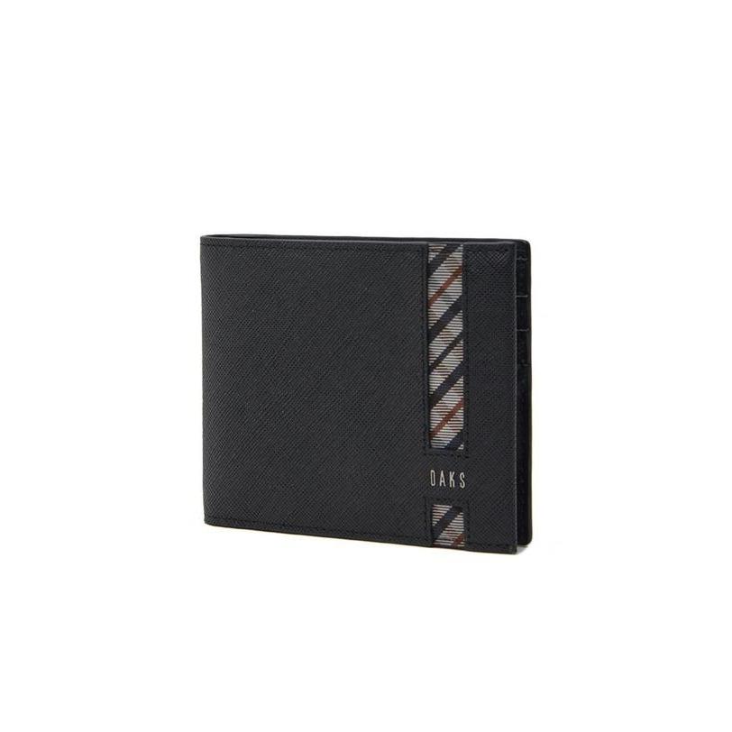닥스 악세서리 남성 20FW [CLASSIC CHECK]블랙 가죽 체크 장식 로고 반지갑 DBWA0F916BK