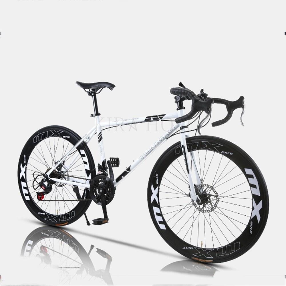 가볍게 자전거 복고 초경량 휴대용 변속 111호 kirahosi Kon267, 화이트블랙화이트24단40림