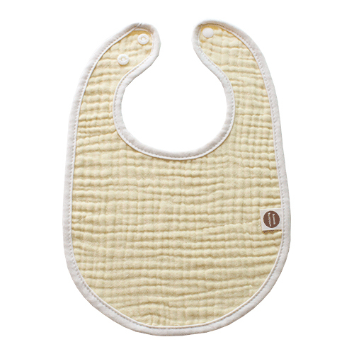 바니블라썸 여름용 거즈 스카프빕 아기 턱받이 유아 신생아 침받이, 노랑거즈 토끼턱받이