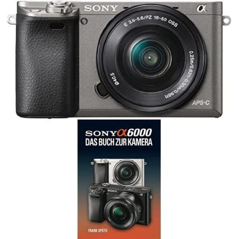 [독일직배송] 소니 알파 6000 시스템 카메라 포함. SEL-P1650 렌즈 흑연 회색 + 소니 알파 6000 설명서, 단일옵션