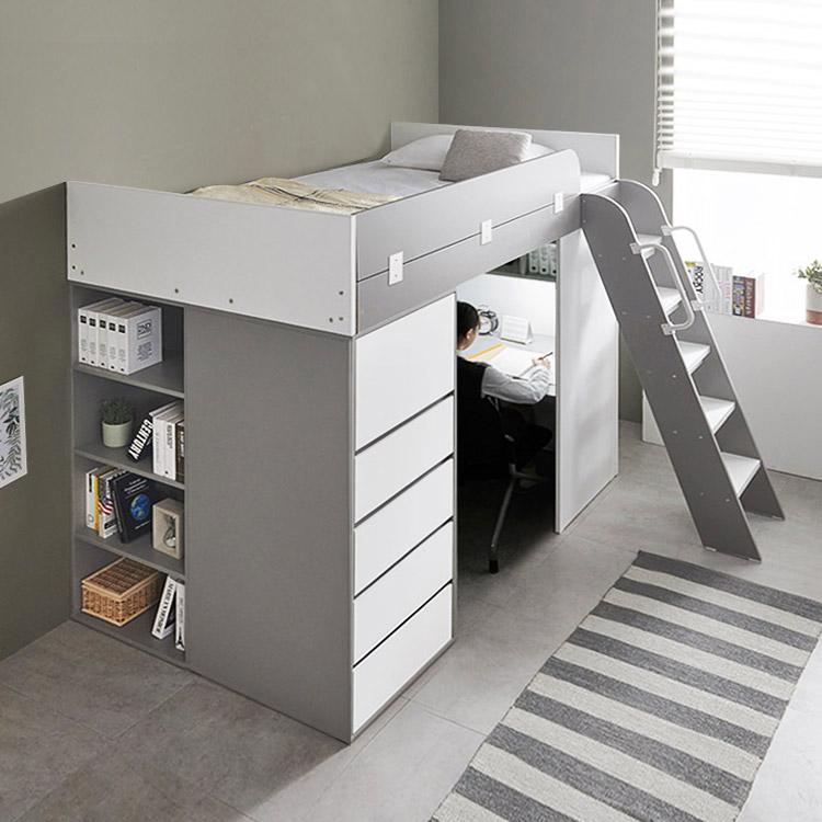 e스마트 하우스 수납서랍장 2층 벙커침대 매트포함, 메이플
