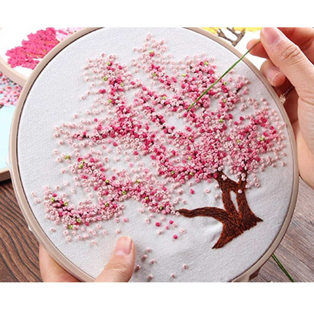 [제이제이오피스] 프랑스자수 DIY, 1개, 02.벚나무