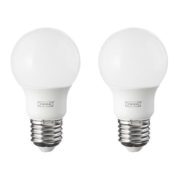 이케아 뤼에트 LED전구 2P E26 600루멘 2700K 5.5x10cm, 1개, 이미지참조