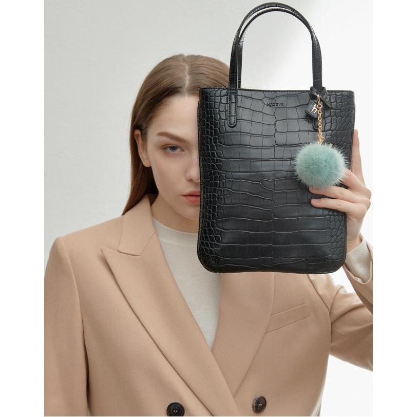 헤지스 악세서리 여성 20FW 블랙 크로커 패턴 숄더백 HIBA0FE30BK