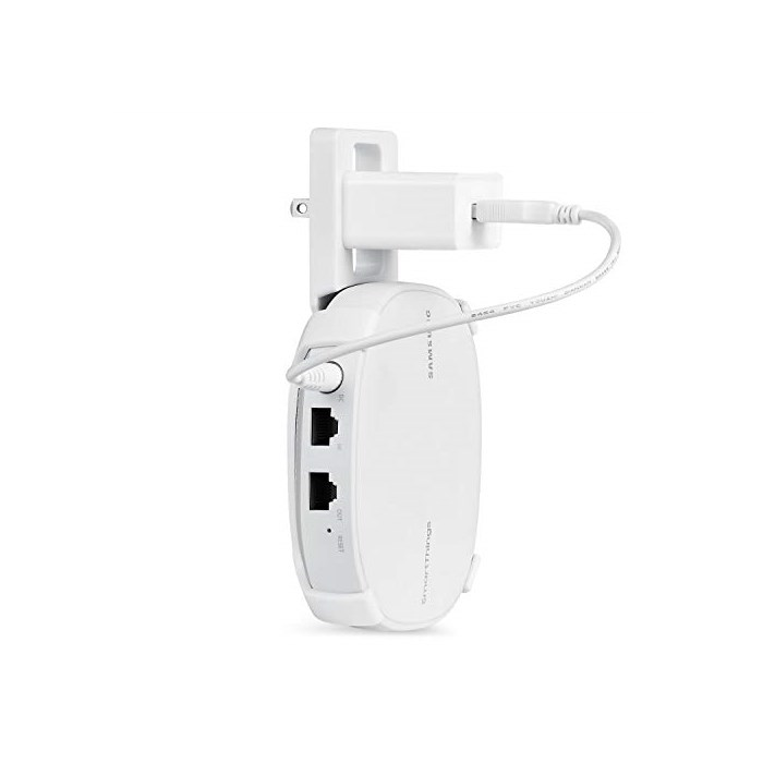AC Outlet Mount Compatible with Samsung SmartThings WiFi Flexible mounting Option for Your White 1, One Size