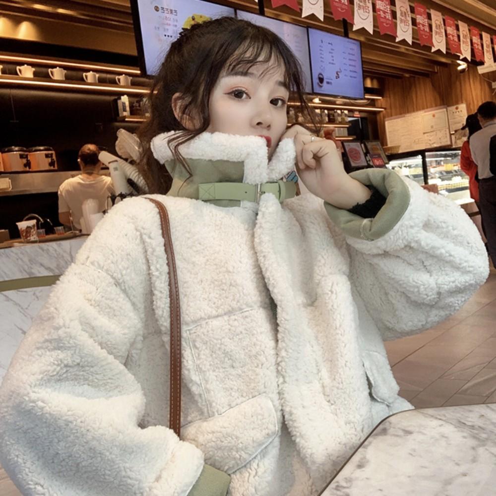가을 겨울 후리스 무스탕 양모 자켓
