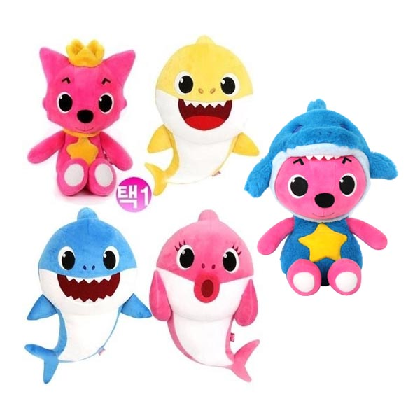 핑크퐁 봉제인형30cm/핑크퐁 아기상어인형/핑크퐁인형, 핑크퐁 엄마상어 인형(멜로디있음)