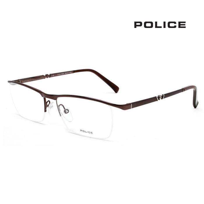 Police 수입명품브랜드 폴리스 V8791-0482 고급안경 남자안경테 반테
