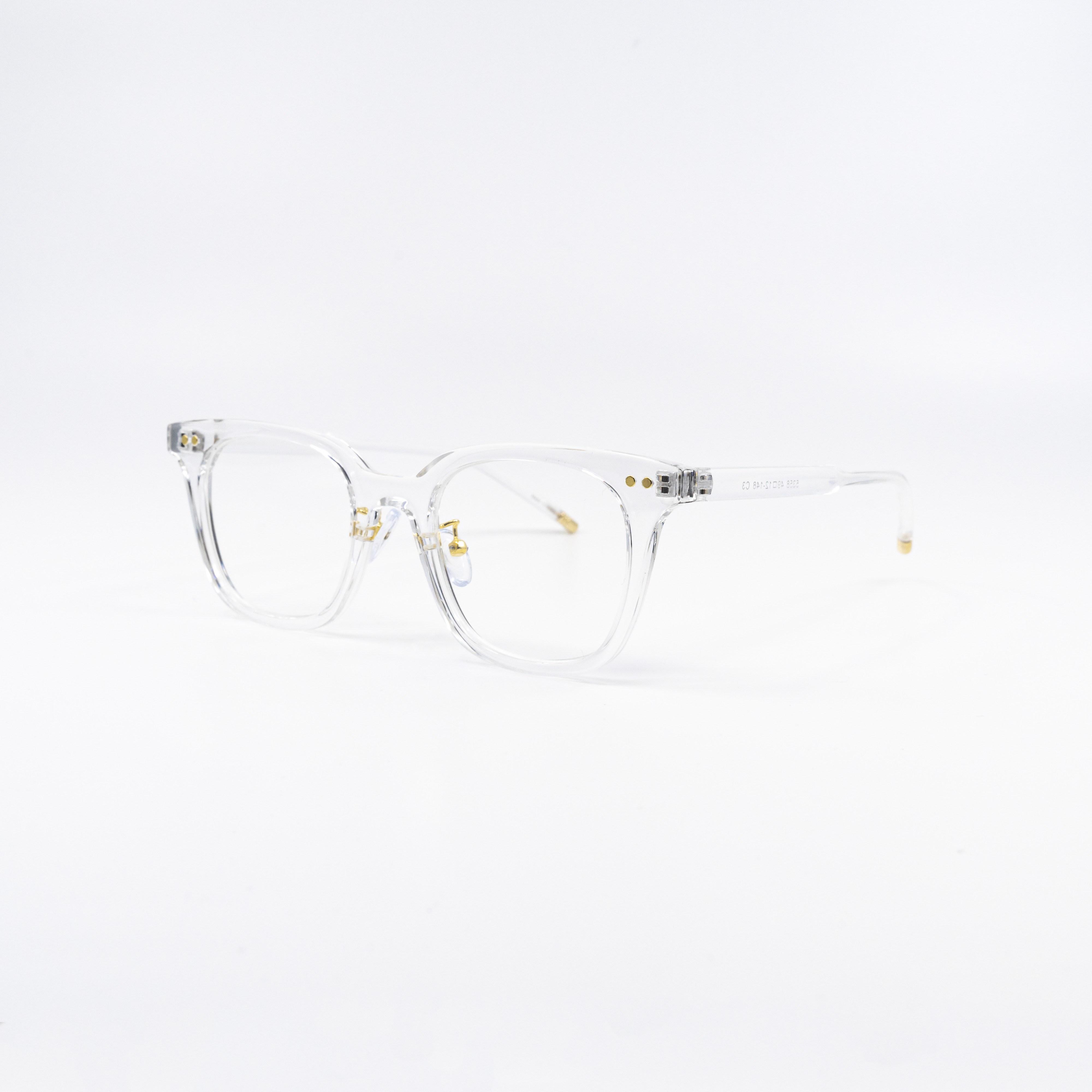 데일리글라스 투명테 뿔테 얇은 브릿지 혼테 안경 5컬러