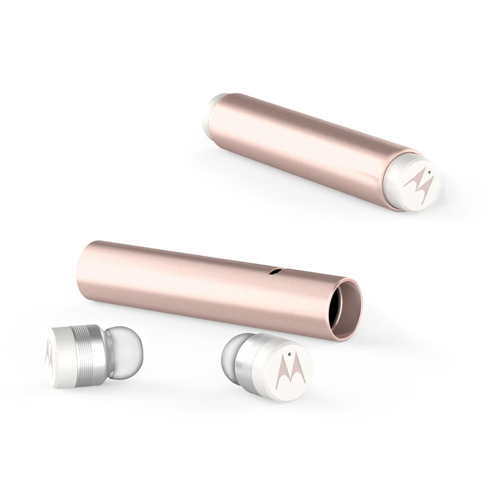모토로라 버브버즈 300 블루투스 이어폰, {Vervebuds300-RG}, Rose Gold