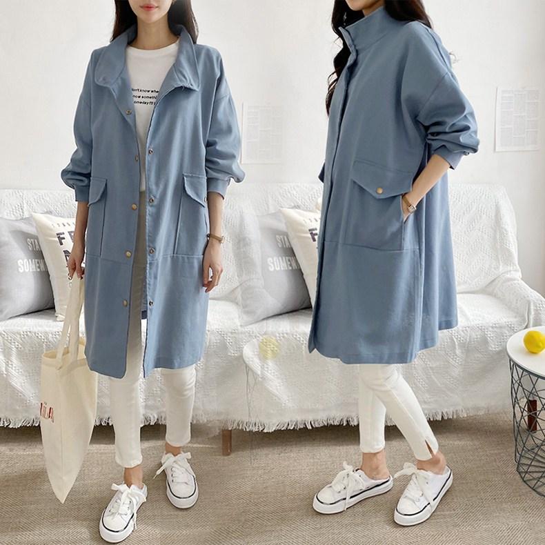 NewCare 봄가을 여성 야상 캐주얼 자켓 봄자켓 코트