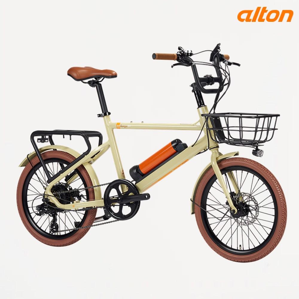2020년 알톤 20인치 전기자전거 벤조20 350W, 파스/스로틀 겸용 - 블랙
