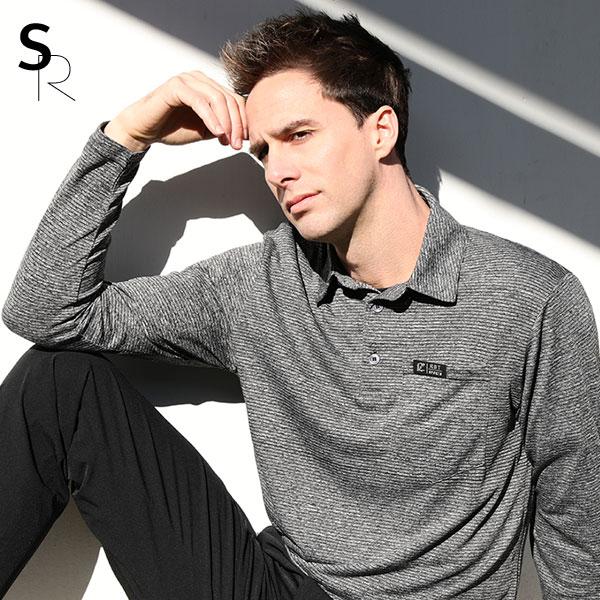 스타일랑 더블핏 남성 신축성 좋은 긴팔 카라 티셔츠(Z0SY2LT045M)