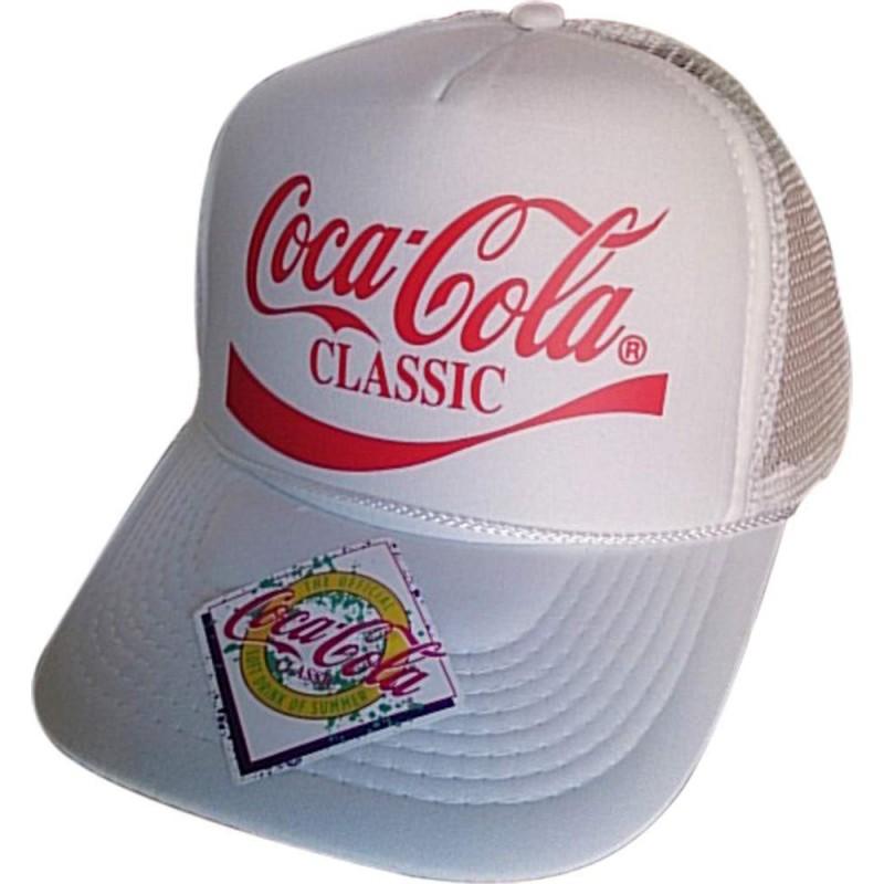 [남성 모자] 코카콜라 (Coca Cola) 캡 화이트 무료 메쉬 캡 CLASSIC CC-MC1W