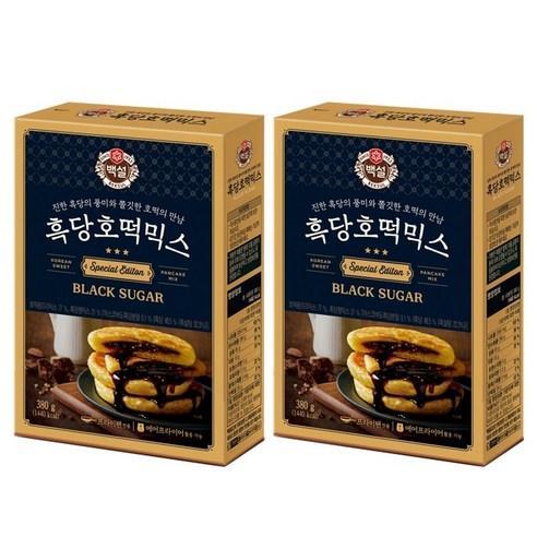 백설 흑당호떡믹스, 380g, 2개