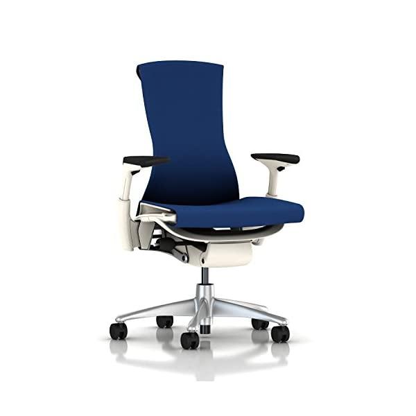 Herman Miller Embody Chair Charcoal Rhythm, Berry Blue Rhythm