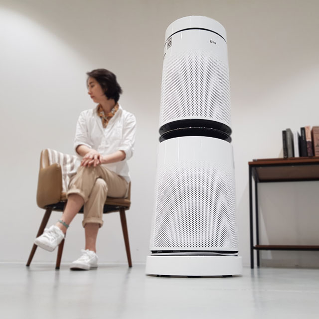 엘지 퓨리케어공기청정기받침대 무빙휠(2단-화이트)