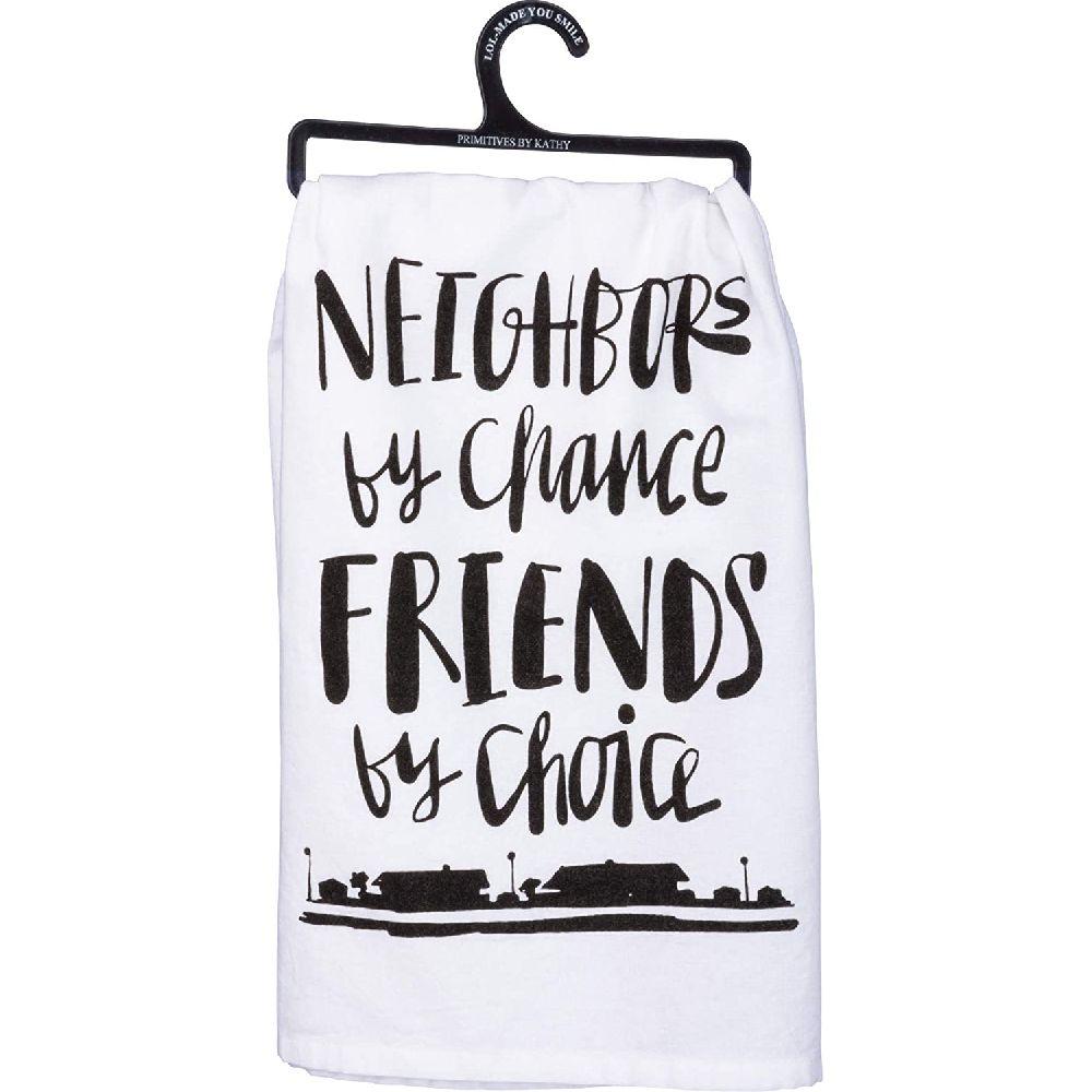 Primitives by Kathy 캐시 프리미티브는 제작 LOL 당신은 기회 친구로 28 X 28이웃 접시 수건 스마, 상세페이지참조, 28 x 28Neighbors By Chance, Friends By Choice
