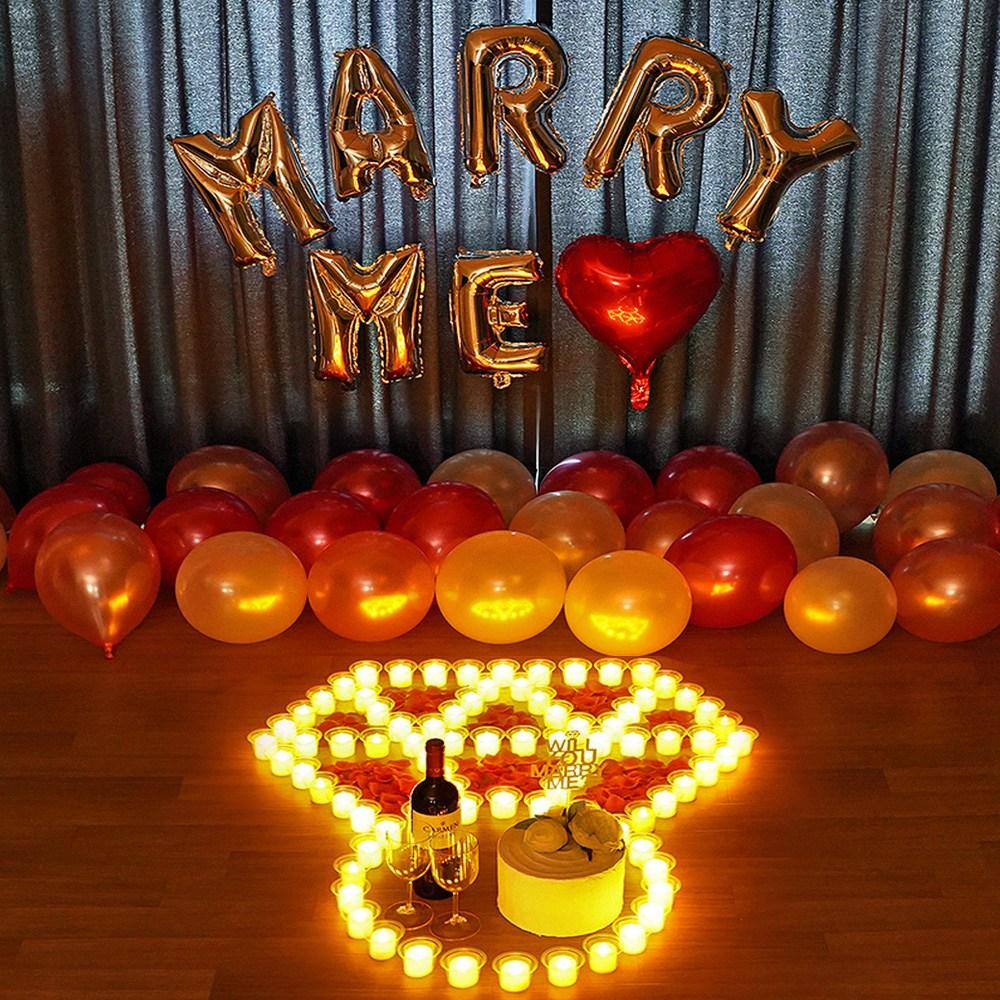 러브헌터 초간단 LED전기초 성공노하우! 프로포즈 기념일 촛불 이벤트용품, 04. 전기초 다이아 SET02-1