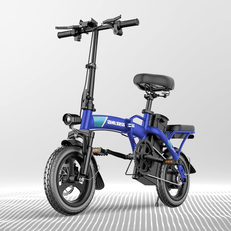 전기자전거 GSLING FJ 프로 접이식 전동 스쿠터 48V 장거리 드라이브, 10Ah_40km, Blue