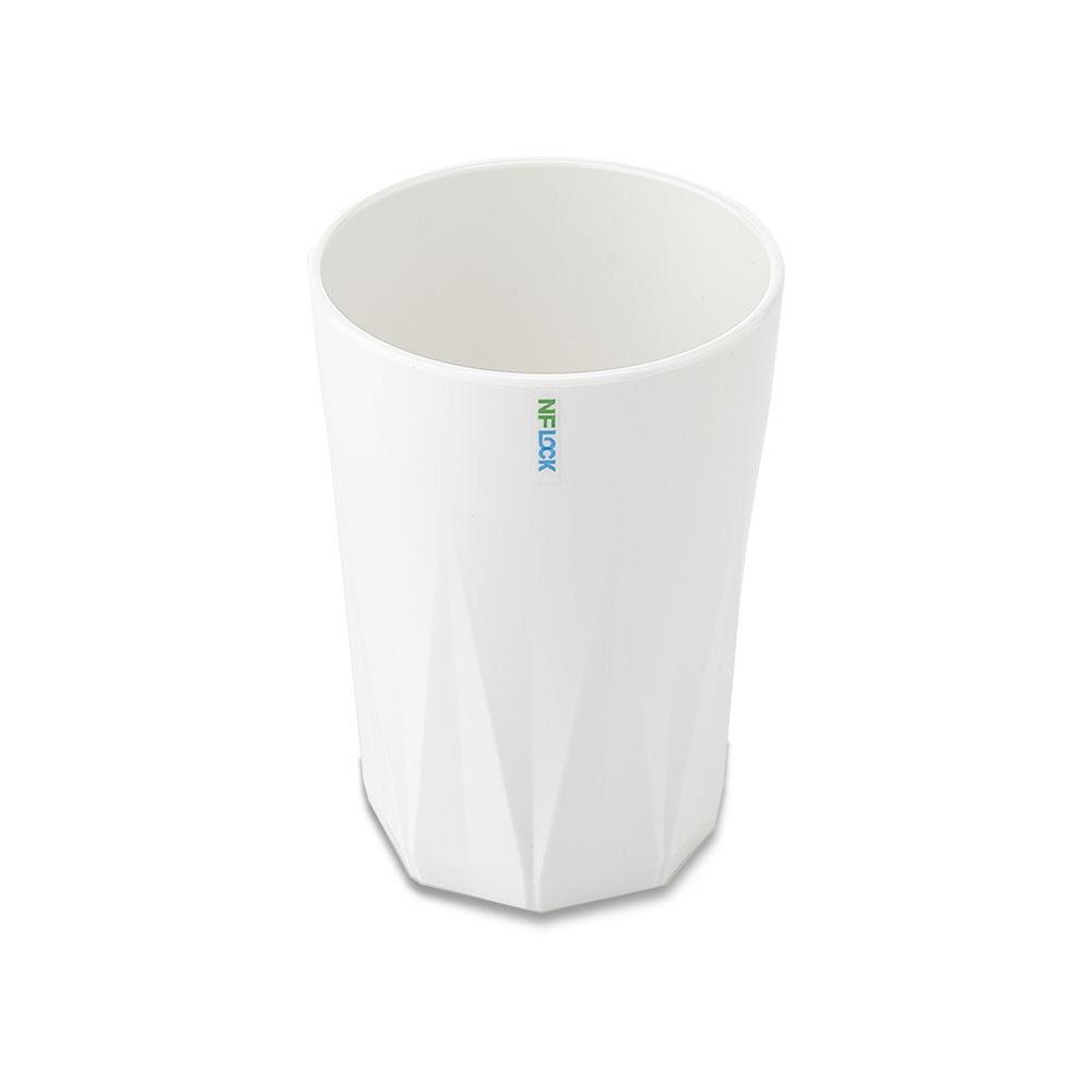 엔에프락 트라이탄컵 안깨지는 투명 물컵, 화이트(불투명)/탑