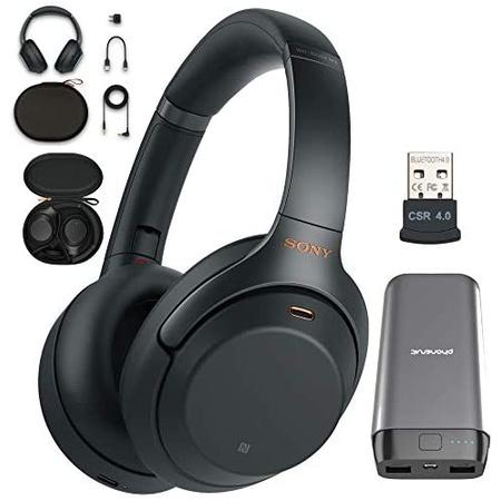 헤드셋 Sony WH-1000XM3 Wireless Noise Canceling Over Ear Headphone with Voice Assistant Black (WH-, 상세 설명 참조0