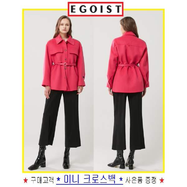 [현대백화점][에고이스트] EL4WC960 셔츠형 벨티드 하프코트 EG