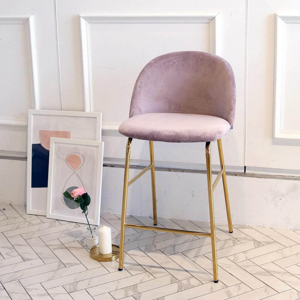 에그 골드 바체어 아일랜드 홈바 의자, 에그 바_핑크