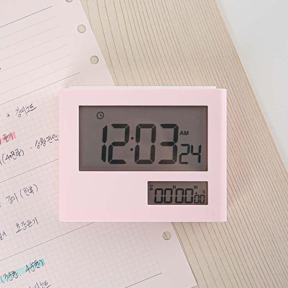 라이프썸 듀얼 디지털 스톱워치 (LFS-HA28) 베이비핑크, 단품